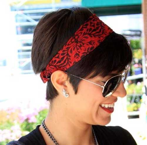 Cute Easy Pixie Hairstyles with Bandana