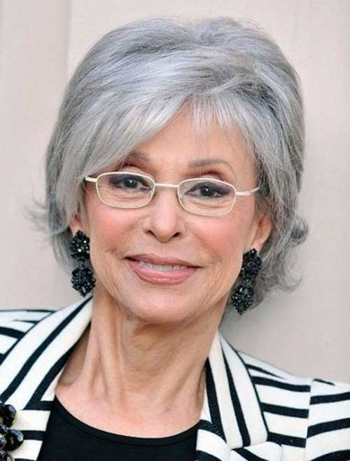 Cute Grey Short Hairstyles Types for Over 50