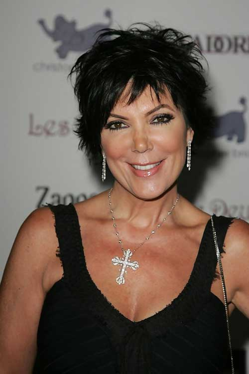 Cute Short Dark Hairstyles for Over 50