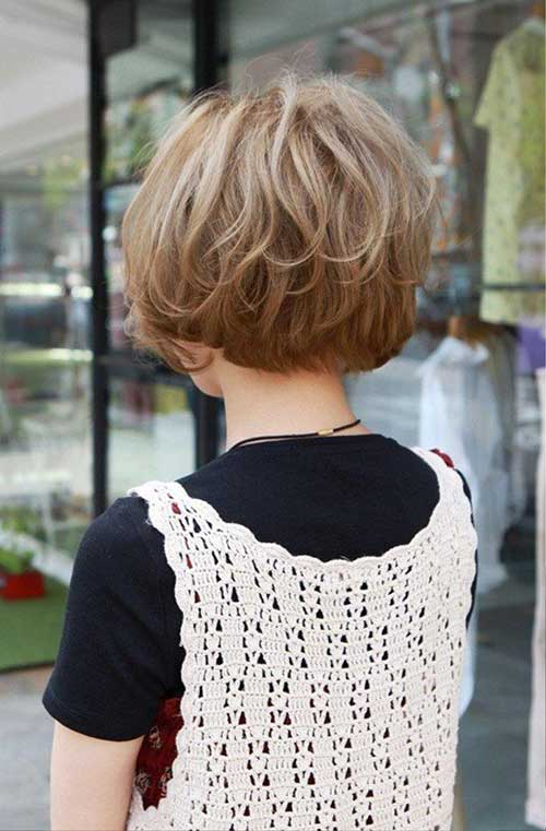 Cute and Easy Short Hair Back View