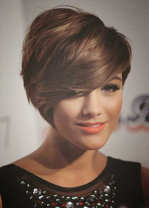 Best Dark Bob Hairstyles with Side Swept Bangs