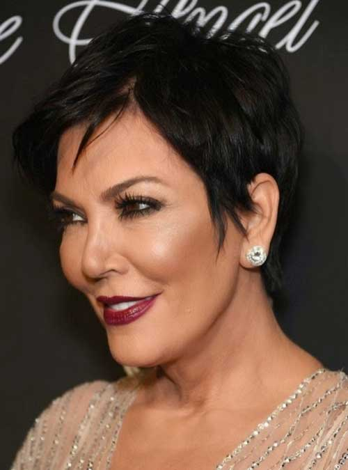 Dark Pixie Hair Cuts for Over 50
