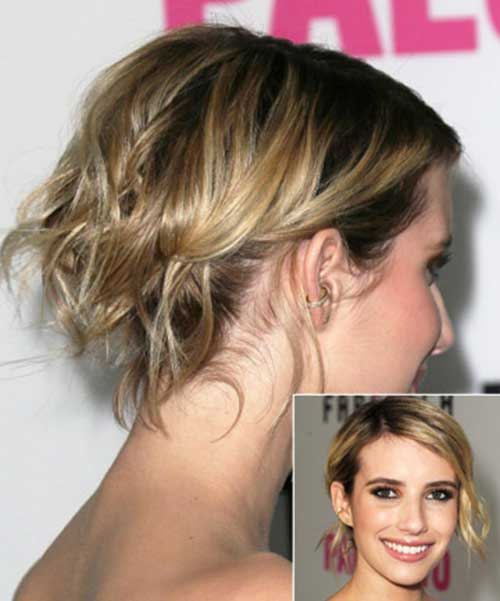 Emma Roberts Updos Bob Hair Style