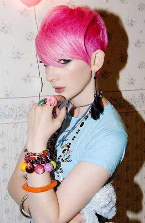 Fuchsia Short Hair Colors Style
