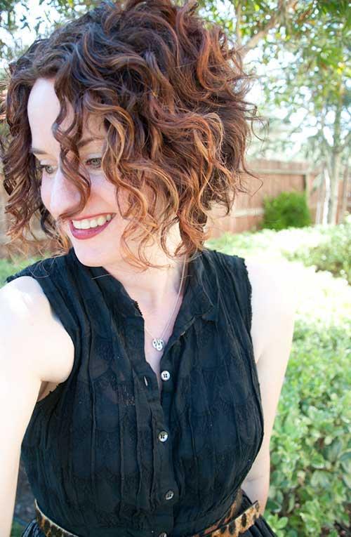 Fun Curly Hair for Short Haircut