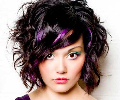 Fun Dark Curly Hair for Short Hairstyle
