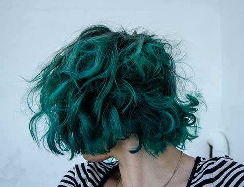 Fun Short Green Hairstyles