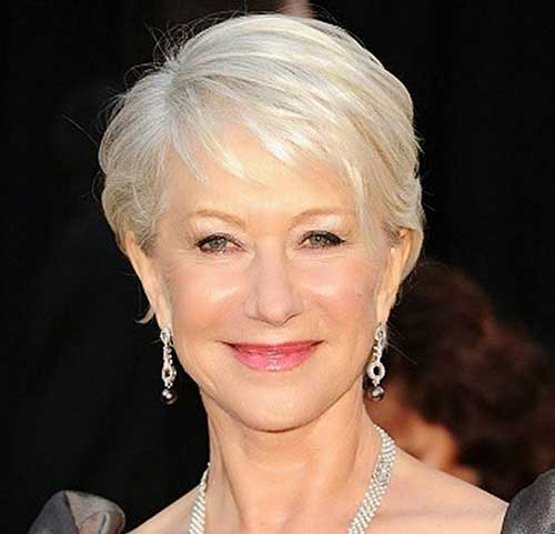 Grey Fine Pixie Haircuts Ideas for Women Over 50