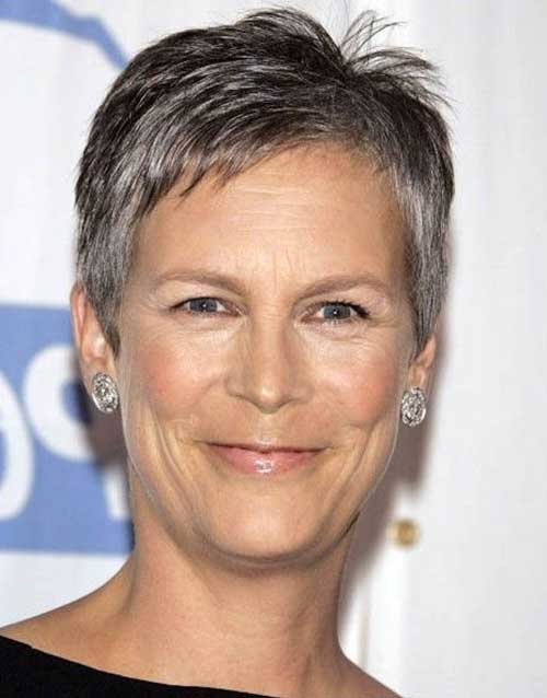 Grey Pixie Haircuts for Women Over 50