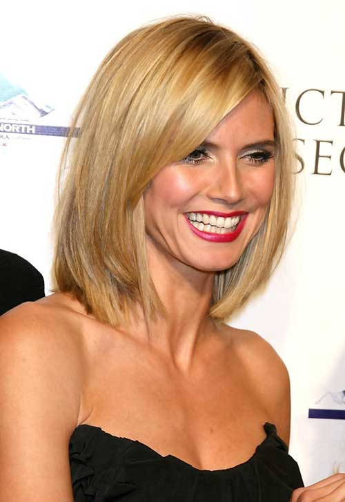 heidi klum long bob haircut the best short hairstyles for women 2015. Black Bedroom Furniture Sets. Home Design Ideas