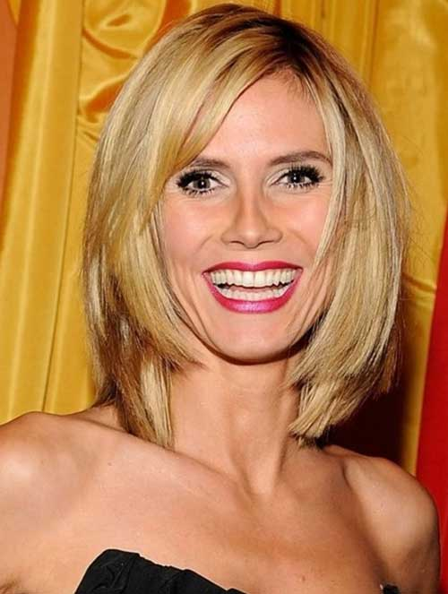 Heidi Klum Bob Hair with Bangs