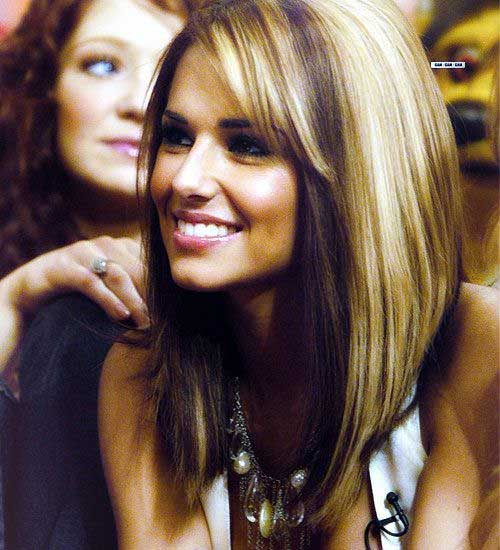 Highlighted Hair Thick Long Bob Hair