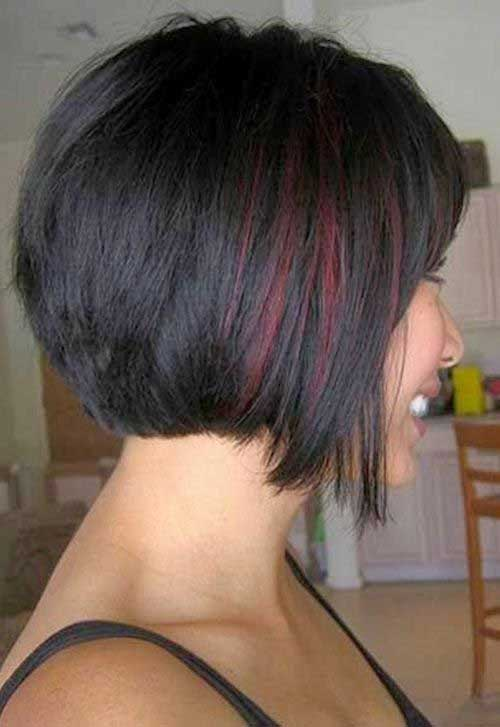 Inverted Dark Bob Haircut 2014