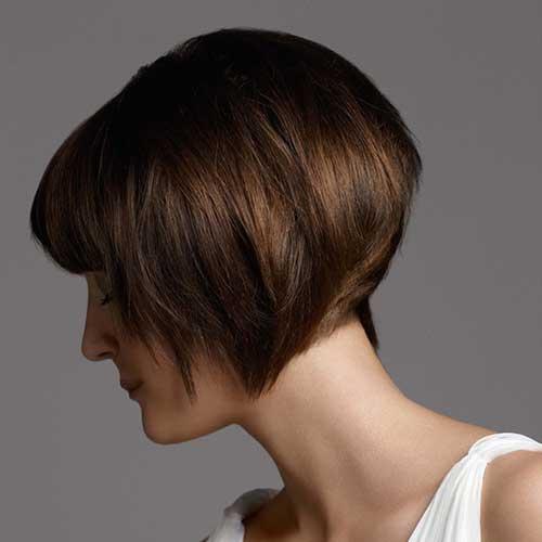 Inverted Bob Haircuts with Bangs