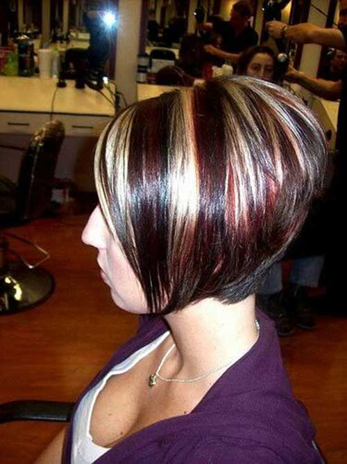 Inverted Bob Hair with Highlights