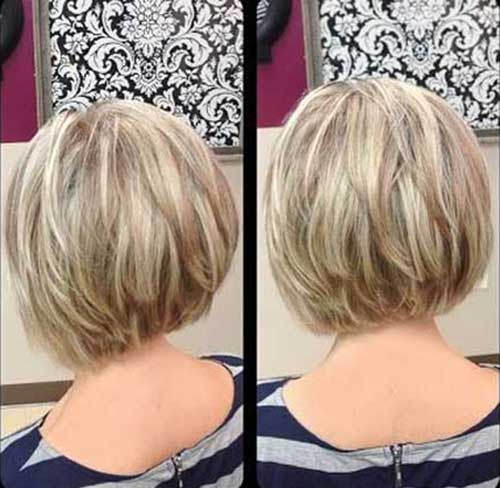 Inverted Highlighted Bob Haircuts 2014-2015