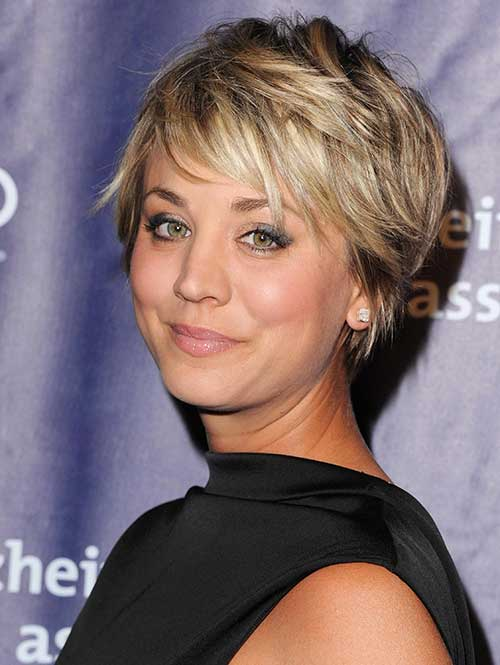 Kaley Cuoco Short Cropped Blonde Haircuts