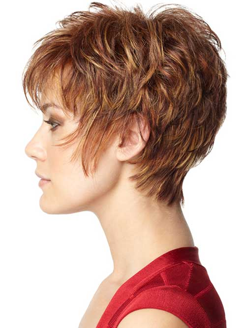 Layered Pixie Brown Haircuts