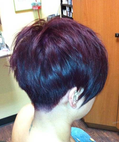 Layered Pixie Hair Cuts Back View