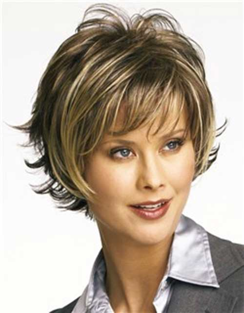 Layered Short Hair Cut for Heart Shaped Faces