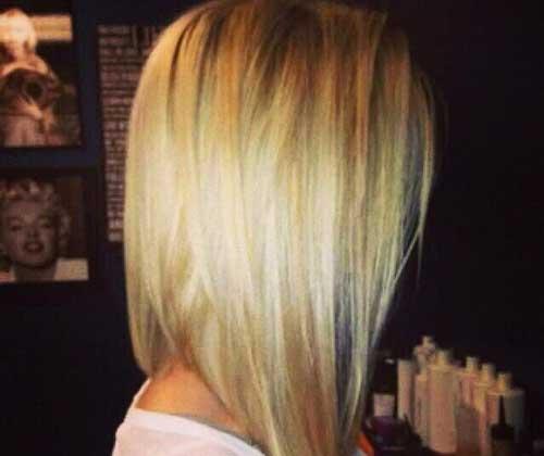 Long Angled Bob Hairstyles 2014