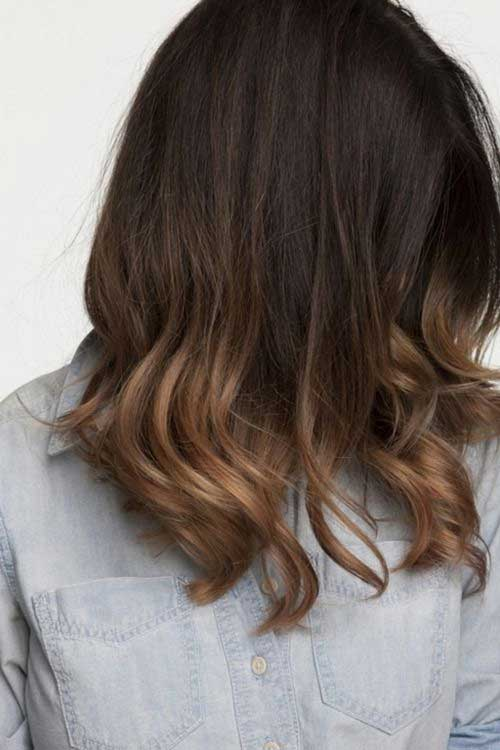 Long bob ombre hair the best short hairstyles for women 2016 for Long bob ombre