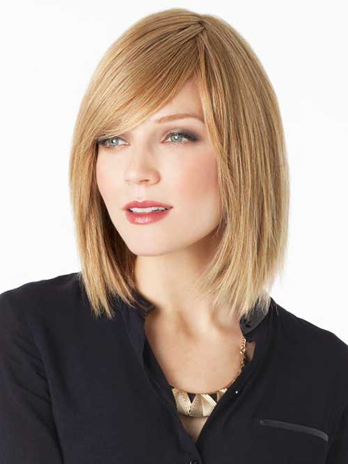 Long Straight Bob with Side Bangs