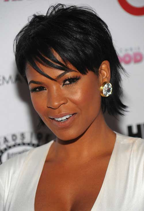 Nia Long Layered Pixie Hairstyles