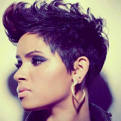 Strange The Most Stylish Short Spiky African American Hairstyles For Head Short Hairstyles Gunalazisus