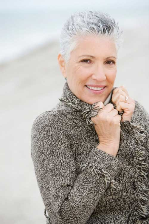Pixie Grey Haircuts Ideas for Women Over 50