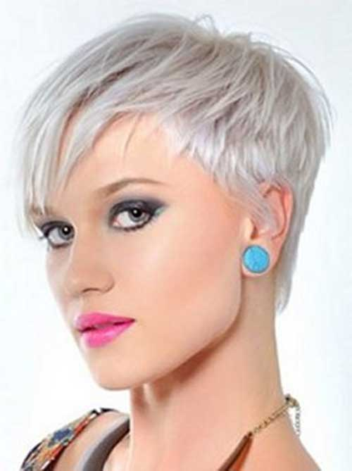Pixie Haircut Style for Grey Thin Hairstyles