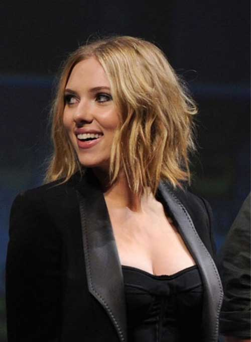 Inverted Bob Scarlett Johansson Short Hairstyle 2013