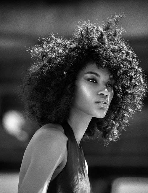 Short Afro Thick Curly Hairstyles for Black Women