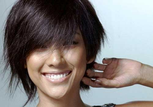 Short Asian Hairstyles for Thick Dark Hair