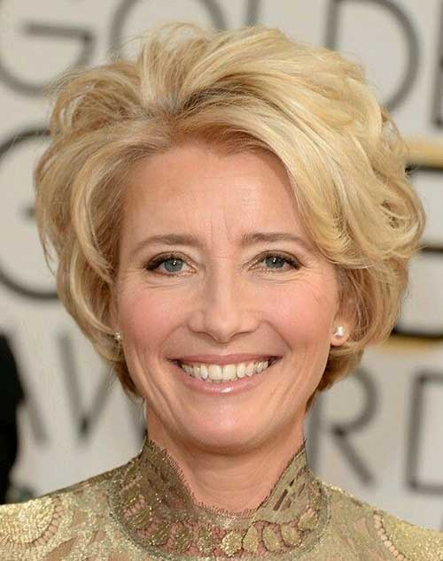 Classy Short Blonde Haircut for Older Ladies