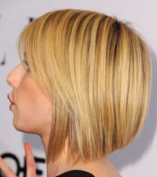 Short Blonde Highlighted Hair Color