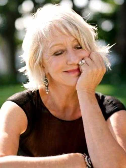 Short Blonde Layered Haircut for Older Ladies