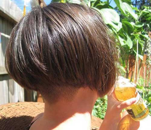 Short Blunt Bob Haircuts Back View
