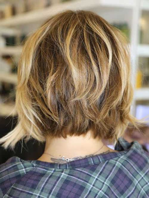 Layered Bob Haircut Back View Layered Haircut Layered Bob Haircut Back ...