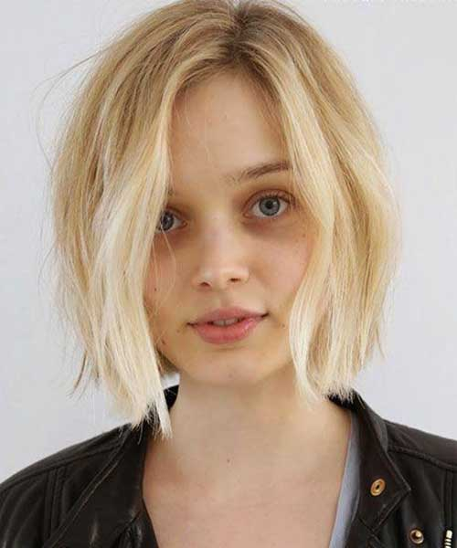 Short Blonde Cropped Haircut