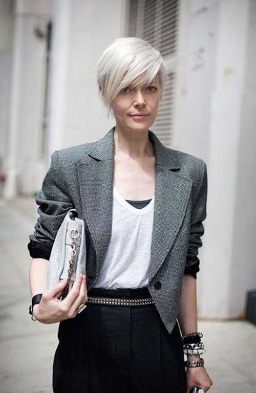 Short Cropped Long Pixie Hair