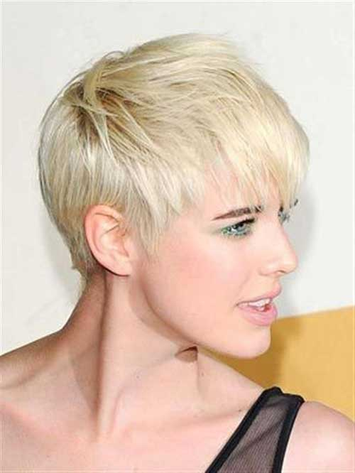 Short Cropped Pixie Blonde Haircuts