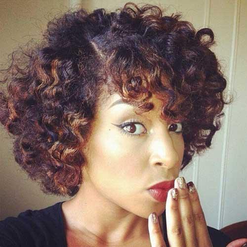 Short Curly Bob Hairstyles Black Women