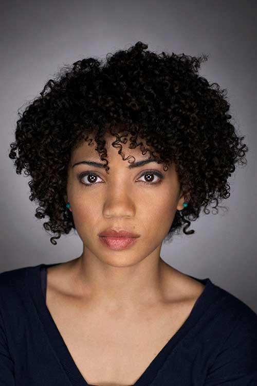 Short Curly Dark Haircuts for Women 2014