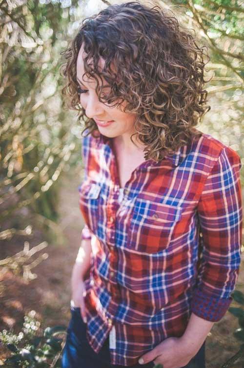 Short Cute Curly Perms