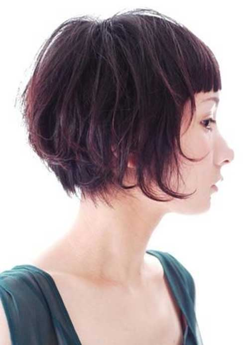 Short Cute Hairstyles for Thick Hair with Bangs