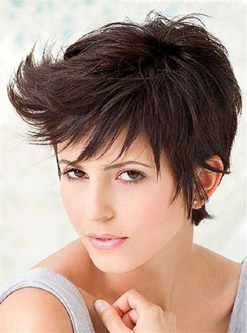Short Cute Pixie Hairstyles for Thick Hair