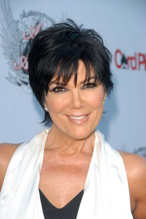 Short Dark Haircuts for Women Over 50