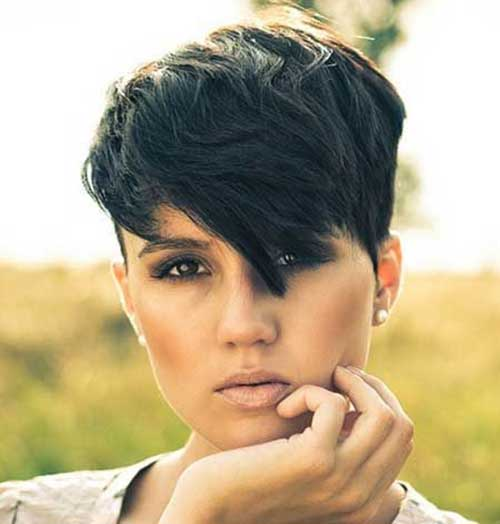 Short Edgy Hairstyles for Thick Dark Hair