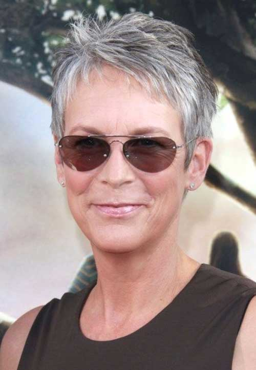 Short Grey Haircut for Older Ladies
